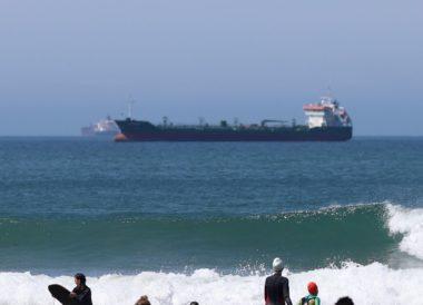 drop tanker sunny warm busy